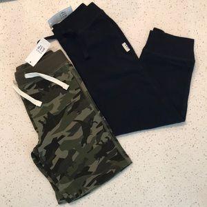 NWT Gap Boys Jersey Navy Sweatpants & Camo Shorts